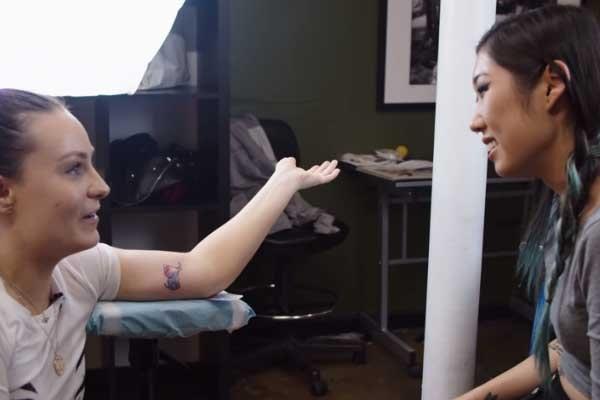 Molly Burke's elephant tattoo