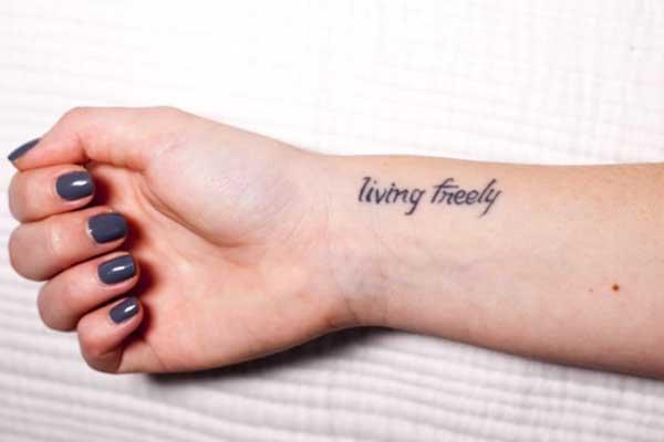 Molly Burke's wrist tattoo