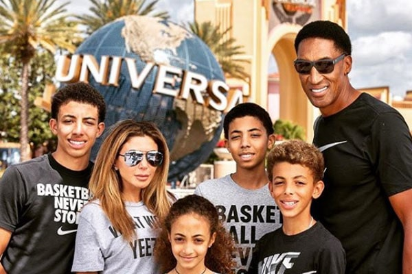 Scottie Pippen's Son Preston Pippen with Larsa Pippen