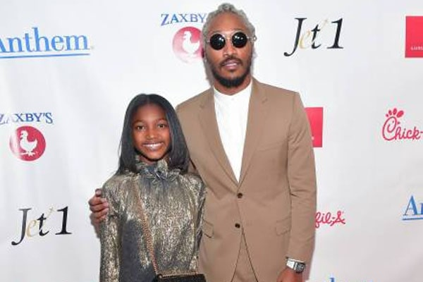 Londyn Wilburn with her dad, Future