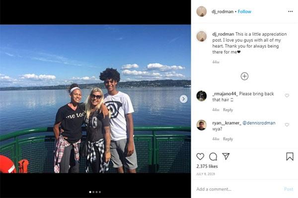 DJ Rodman's family