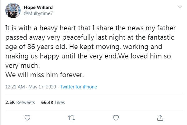 Fred Willard's daughter Hope Willard
