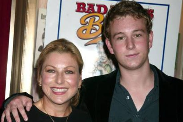 Kevin McEnroe with his mother