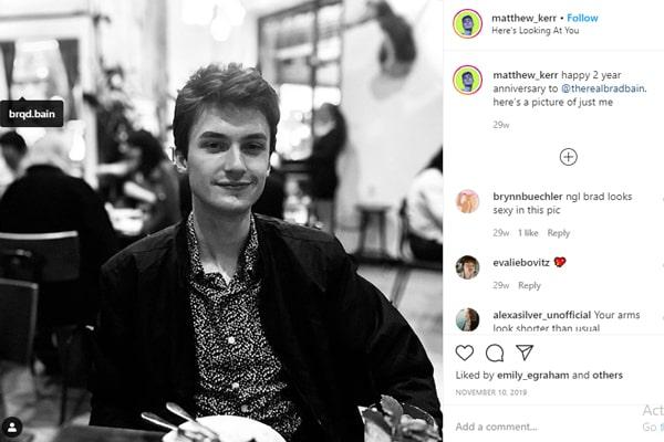 Steve Kerr's Son, Matthew Kerr's boyfriend.