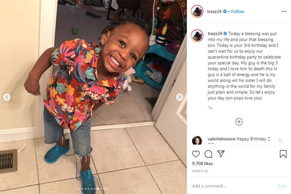 Montrezl Harrell's son, Amari's birthday