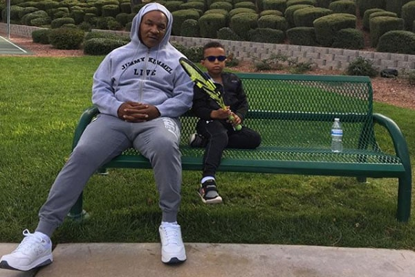 Morocco Tyson with his dad