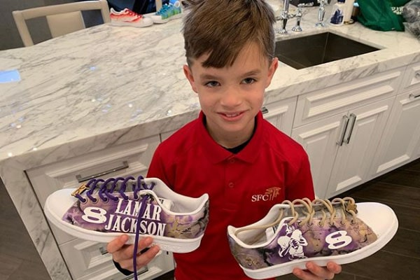Baylen Robert Brees' shoes painting hobby