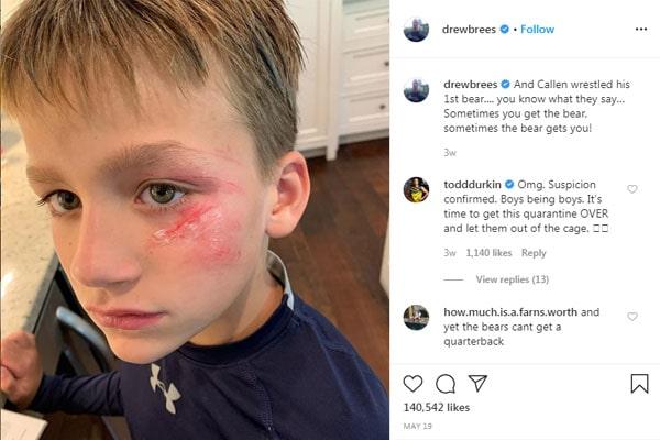 Callen Christian Brees wrestled a bear