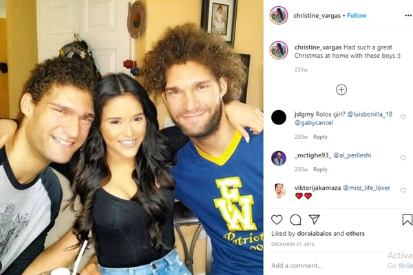 Robin Lopez's brother and girlfriend