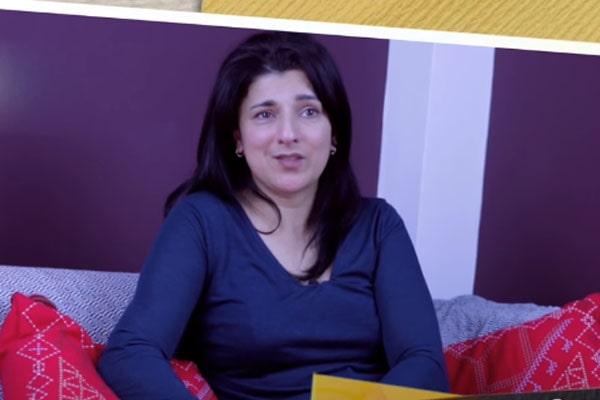 Peter Mullan's ex-partner, Robina Qureshi