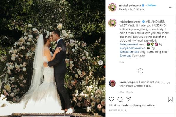 Michelle Wie's wedding with Jonnie West