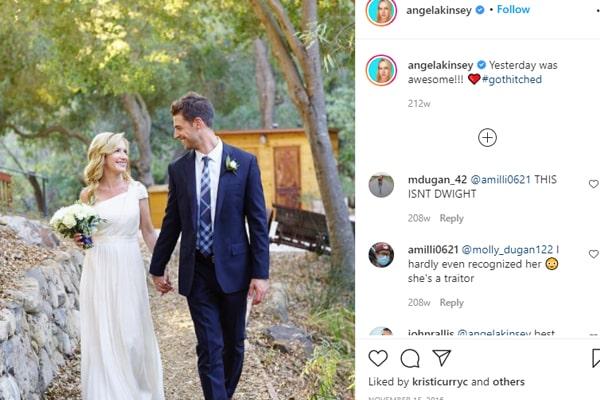 Angela Kinsey's husband, Joshua Snyder