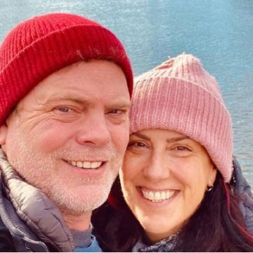 Look Into The Relationship Between Rainn Wilson And His Wife Holiday Reinhorn