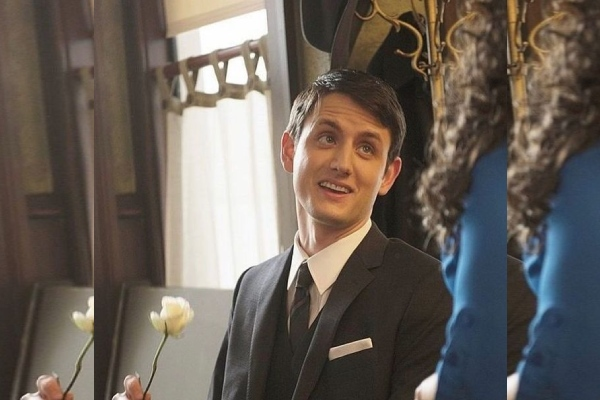 Who is the wife of Zach Woods, the actor who has a weird relationship in The Office?