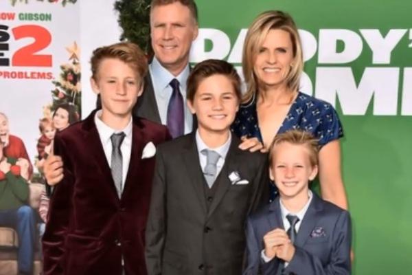 Will Ferrell's son Mattias Paulin Ferrell.