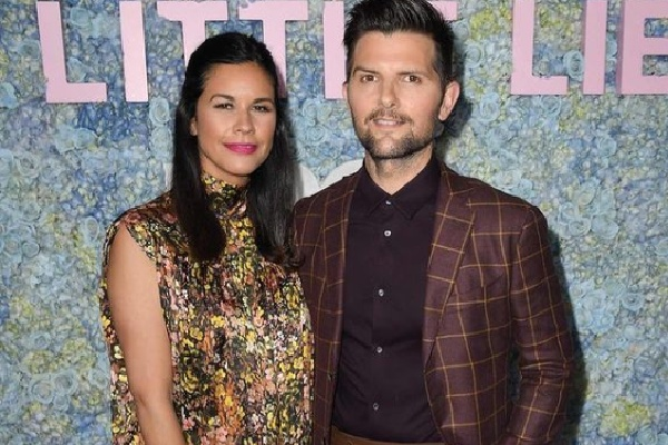 Adam Scott's wife Naomi Scott is a producer and a mother of two