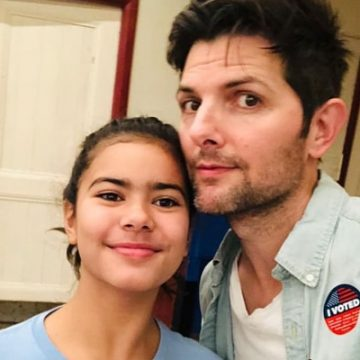 Meet Frankie Scott – Photos Of Adam Scott's Daughter With Naomi Scott