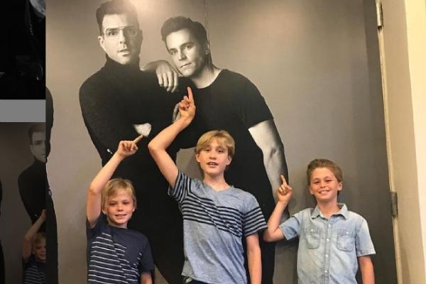 Meet Henry Halls- son of Matt Bomer with Simon Halls