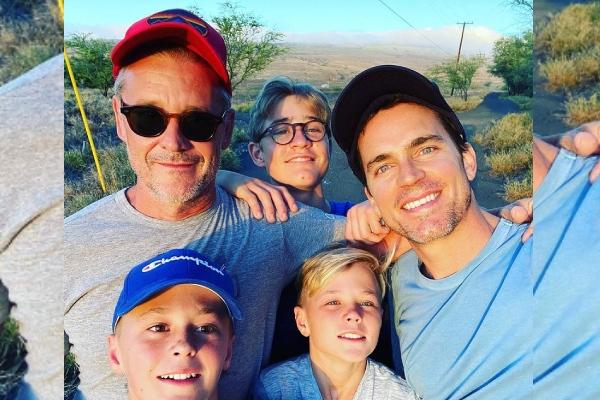 Meet Matt Bomer's Eldest son with Simon Halls- Kit Halls