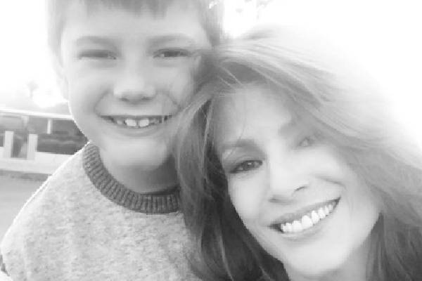 Angie Everhart's Son Kayden Bobby Everhart.