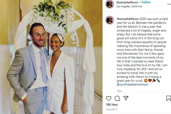 Cynthia Addai-Robinson boyfriend, Cynthia Addai-Robinson husband, Thomas Hefferon