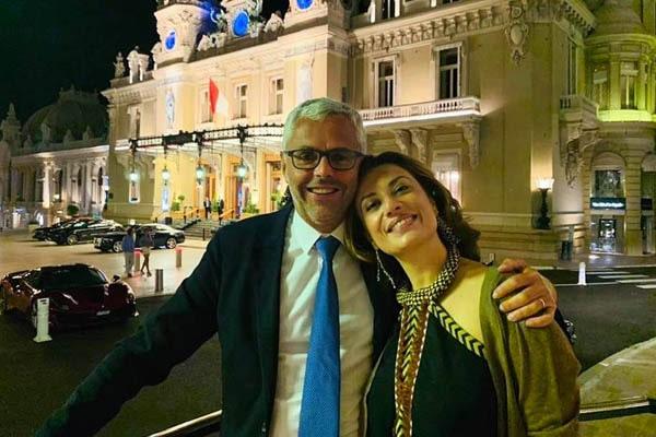 Michel Combes wife, Christie Julian