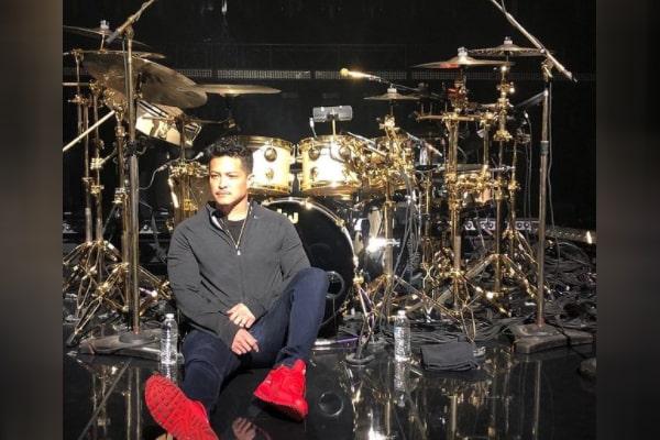 Bruno Mars' brother Eric Hernandez is a drummer.