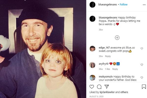 The Edge's daughter Blue Angel Evans