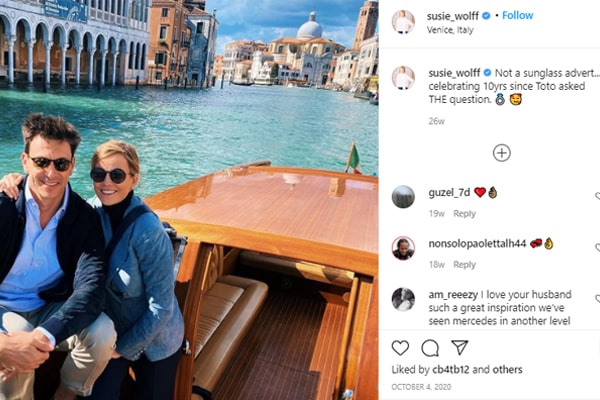 Toto Wolff And Susie Wolff Relationship.