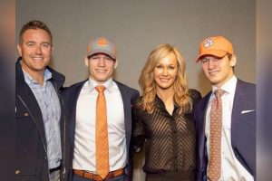 Kirk Herbstreit's son Tye Herbstreit and wife