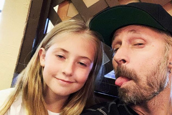 Mike Dirnt daughter with Brittney Cade, Ryan Ruby Mae Pritchard