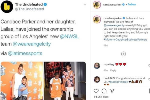Candace Parker's Daughter Lailaa Nicole Williams