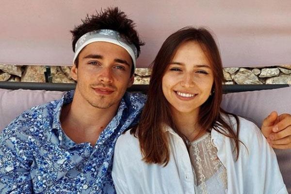 Charles Leclerc's girlfriend, Charlotte Sine