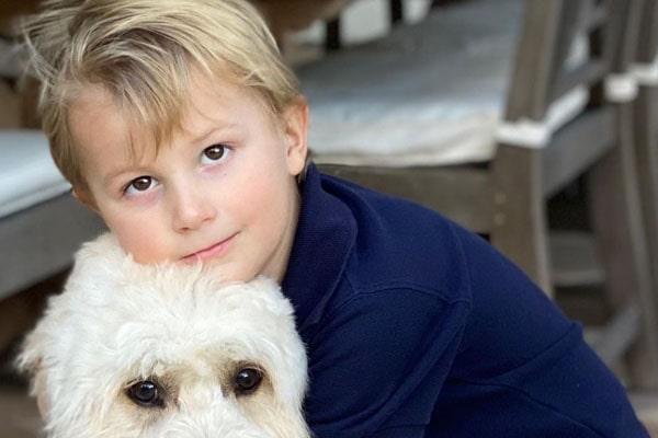 Paulina Gretzky and Dustin Johnson's son, River Jones Johnson